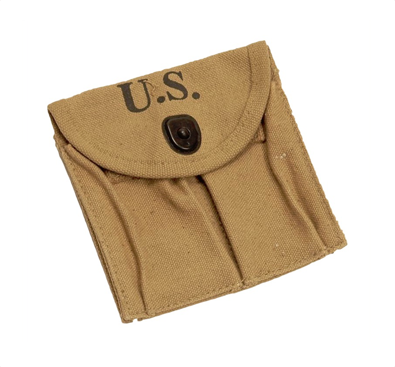 Magazine Stock Pouch Wwii Type For 2 15 Rnd Mags New